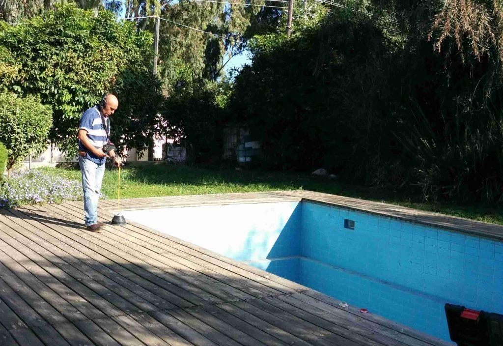 איתור נזילות בבריכות שחייה